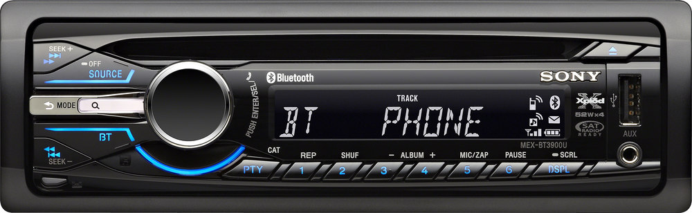 Sony mexn5000bt bluetooth cd car stereo with usb and aux in 7